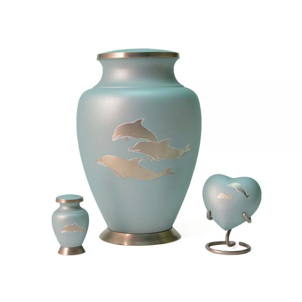 Aria Dolphins Metal Urn