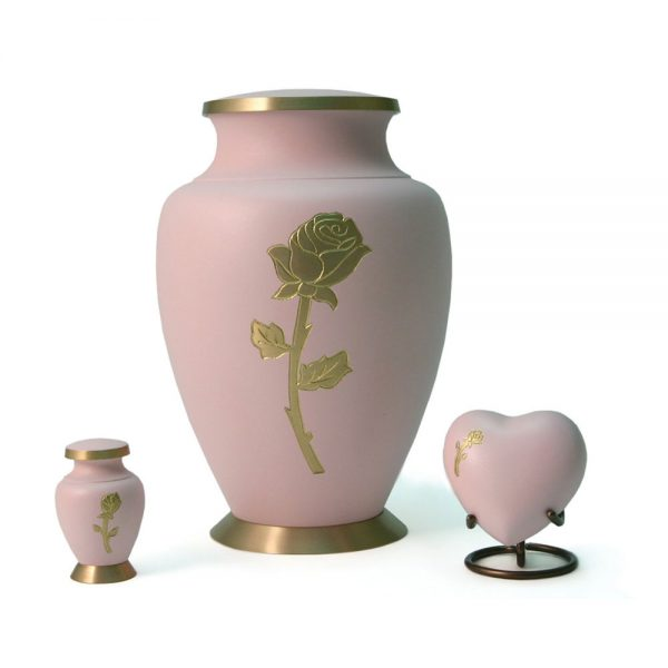 Aria Rose Metal Urn