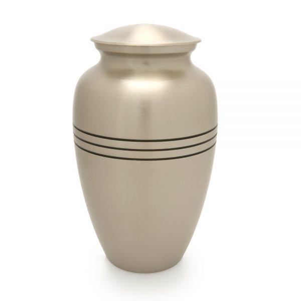 Classic Pewter Metal Urn