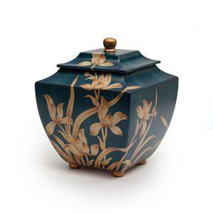Indigo Orchid Resin Urn
