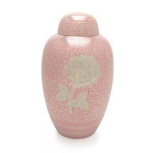 Rose Metal Urn