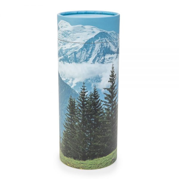 Mountain Scene Scattering Cylinder