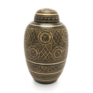 Radiance Engraved Metal Urn