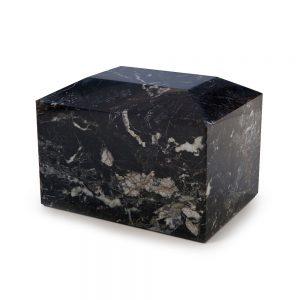 Black Marble Urn