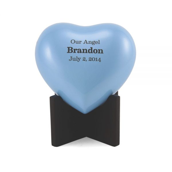 Arielle Heart Keepsake Urn Blue