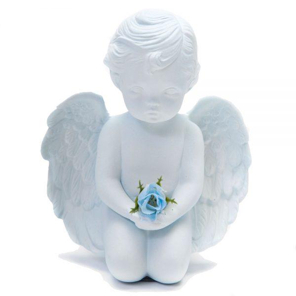 Blue Ceramic Angel