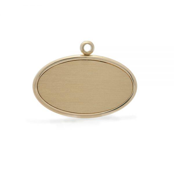 Bronze Oval Urn Pendant