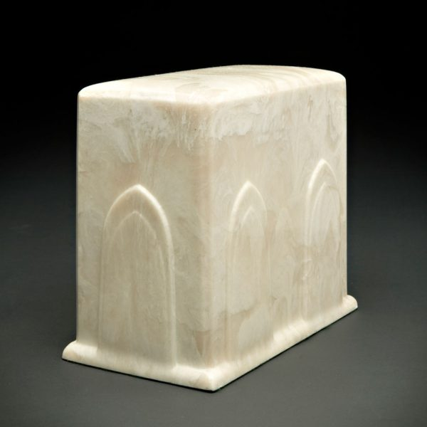 Cathedral Ivory White Urn