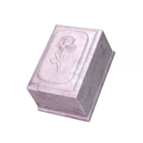 Divine with Rose Cultured Marble Urn