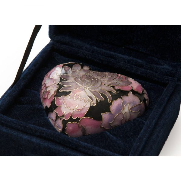 Elite Cloisonne Heart Keepsake Pink