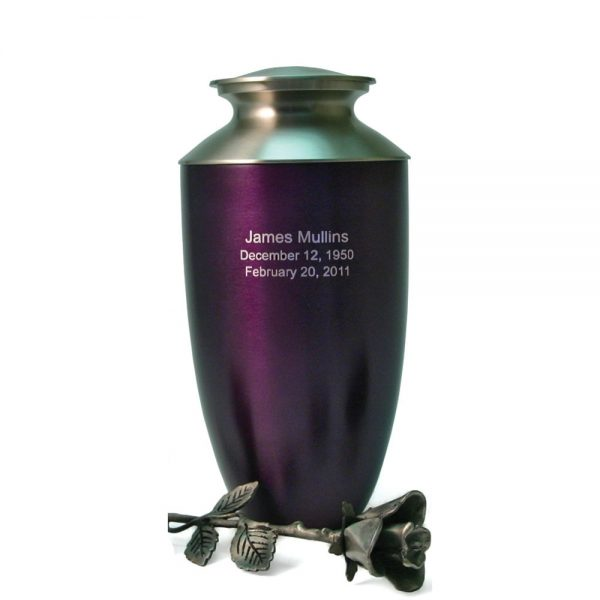 Monteray Purple Metal Urn