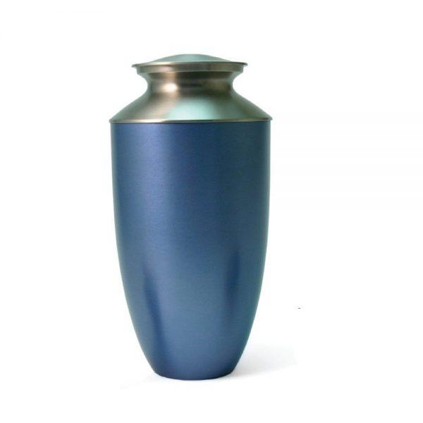 Monterey Blue Metal Urn