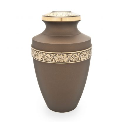 Grecian Rustic Bronze Metal Urn