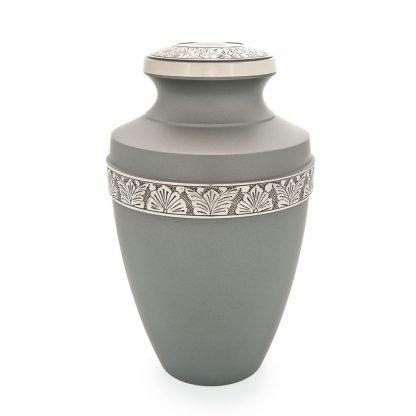 Grecian Rustic Pewter Metal Urn