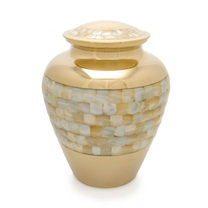Mother of Pearl Aristocrat Metal Urn
