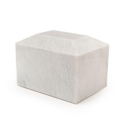 Rectangular White Marble Urn