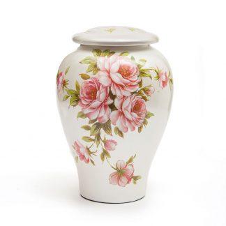 Rose Ceramic Urn