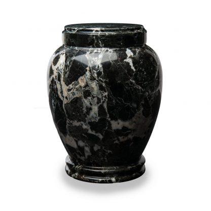 Round Black Marble Urn