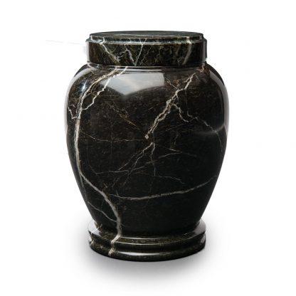 Round Green Marble Urn