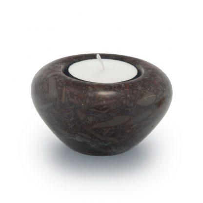 Umber Marble Candle Keepsake