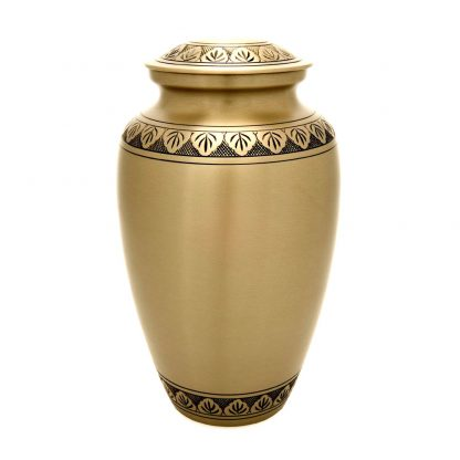 Athena Bronze Metal Urn