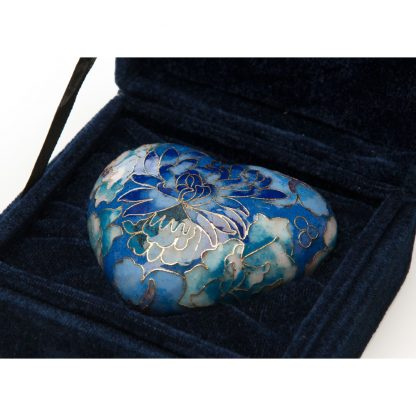 Elite Cloisonne Heart Keepsake Blue