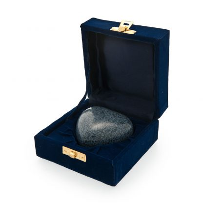 Granite Blue Mausoleum Heart Keepsake