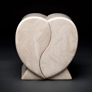 Cultured Marble Heart Companion Urn
