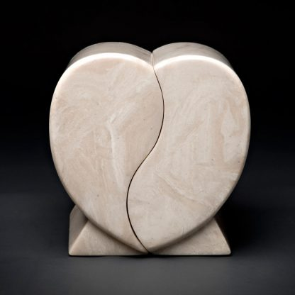 Cultured Marble Heart Companion Urn
