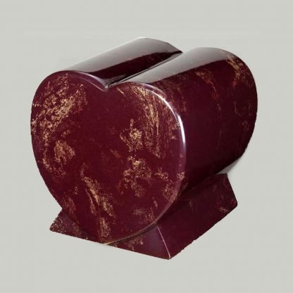 Cultured Marble One Piece Heart Companion Urn
