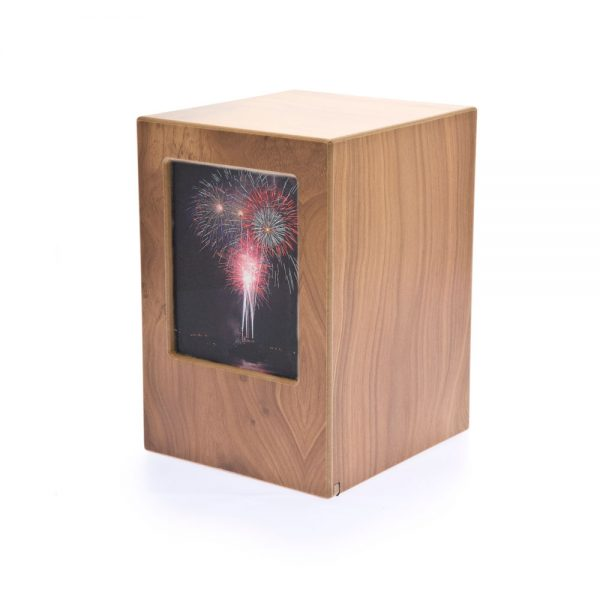 Natural Photo Wood Laminate Urn