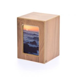 Natural Photo Keepsake Wood Laminate Urn