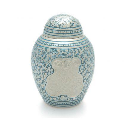 Blue Teddybear Urn