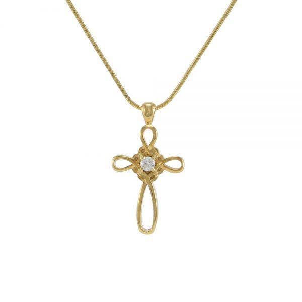 J5130 Bronze Infinity Cross