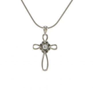 J5131 Pewter Infinity Cross
