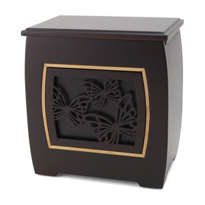 Modern Urn with Butterflies