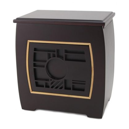 Modern Urn with Geometric Pattern