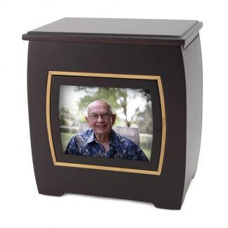 Modern Urn with Photo Frame
